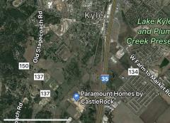 Location of Paramount neighborhood in Kyle