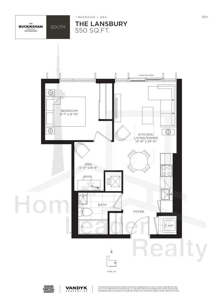 Grand Central Mimico Floor Plates and Floor Plans