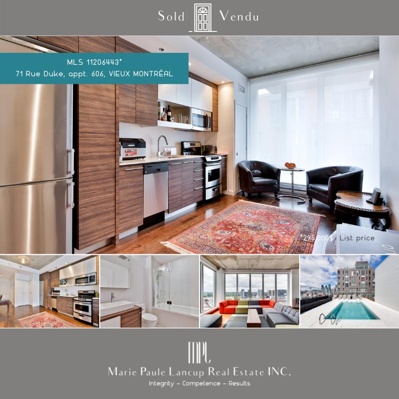 20210604  Marie Paule Lancup Real Estate Inc - 606-71 Duke St MONTREAL (Cité du MultiMédia) - VENDU - SOLD