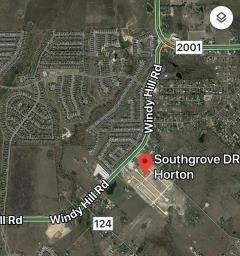 Map showing the location of Southgrove 78640