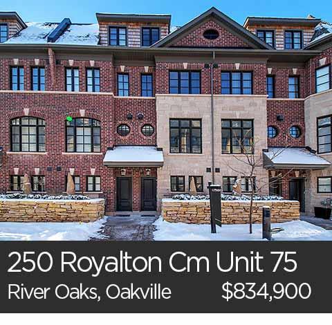 250 royalton common oakville townhome for sale