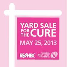 Dennis Paradis Supports Yard Sale for the Cure (Breast Cancer)