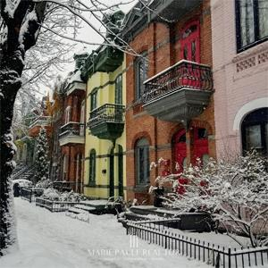 mariepauleREALTOR 20181127 Colourful Row Houses Le Plateau
