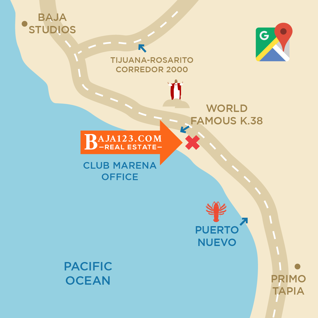 Club Marena Sales Office Location Map