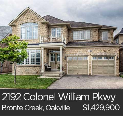 2192 colonel william pkwy bronte creek oakville home for sale