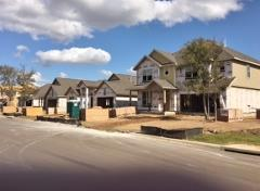 A view of construction in White Oak Preserve 78610