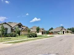 Another view of the Summer Pointe subdivision in Buda, TX.