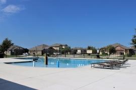 A view of the community pool in Woodlands Park, Kyle, Texas. (Some renovations are ongoing in 2/17)
