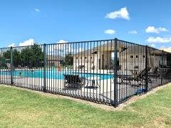 A view of the community pool in Woodlands Park, Kyle, Texas