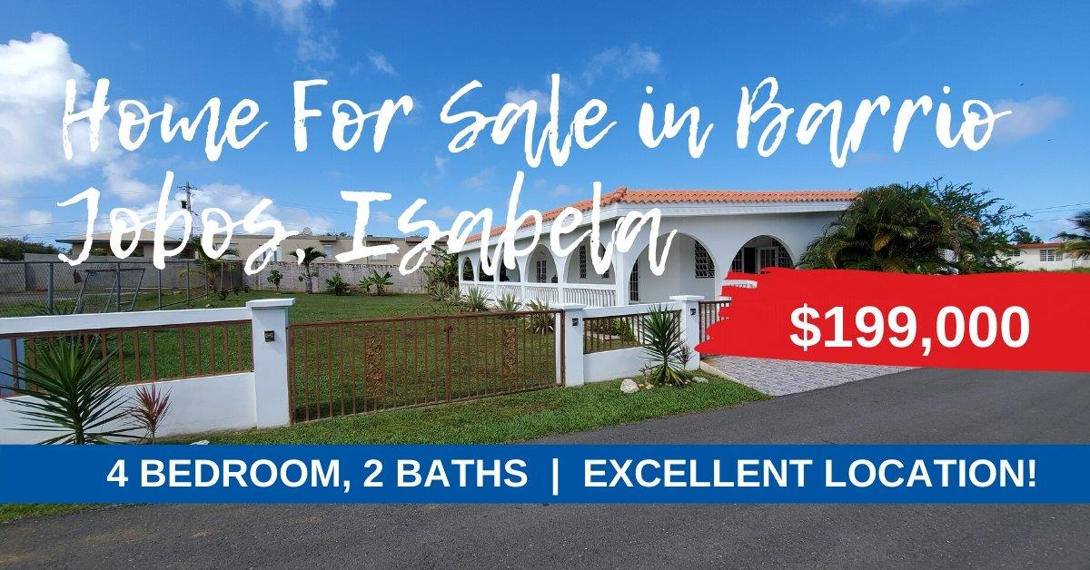 Jobos Isabela Home For Sale in Puerto Rico