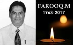 Our Founder- Farooq M