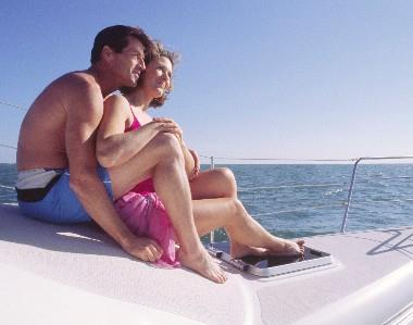 Couple boating in the Lowcountry of South Carolina