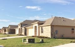 A view of homes in Post Oaks subdivision in Kyle, Texas.