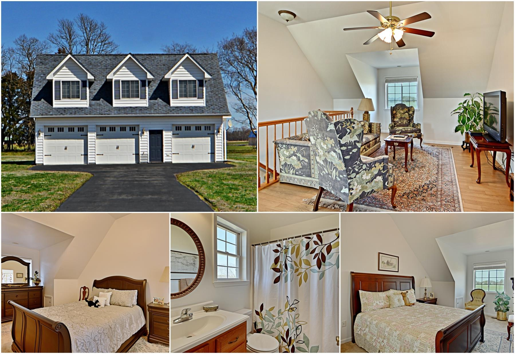 21581 Montfort Rd - Carriage House with Finished Space Above!  Beautiful Bushwood Home for Sale by Marie Lally.  This Waterfront Horse Property is GORGEOUS!  Brokered by O'Brien Realty of SOMD
