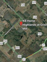 Map showing the location of Highlands at Grist Mill 78640