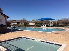 The community pool in Kyle's Silverado neighborhood