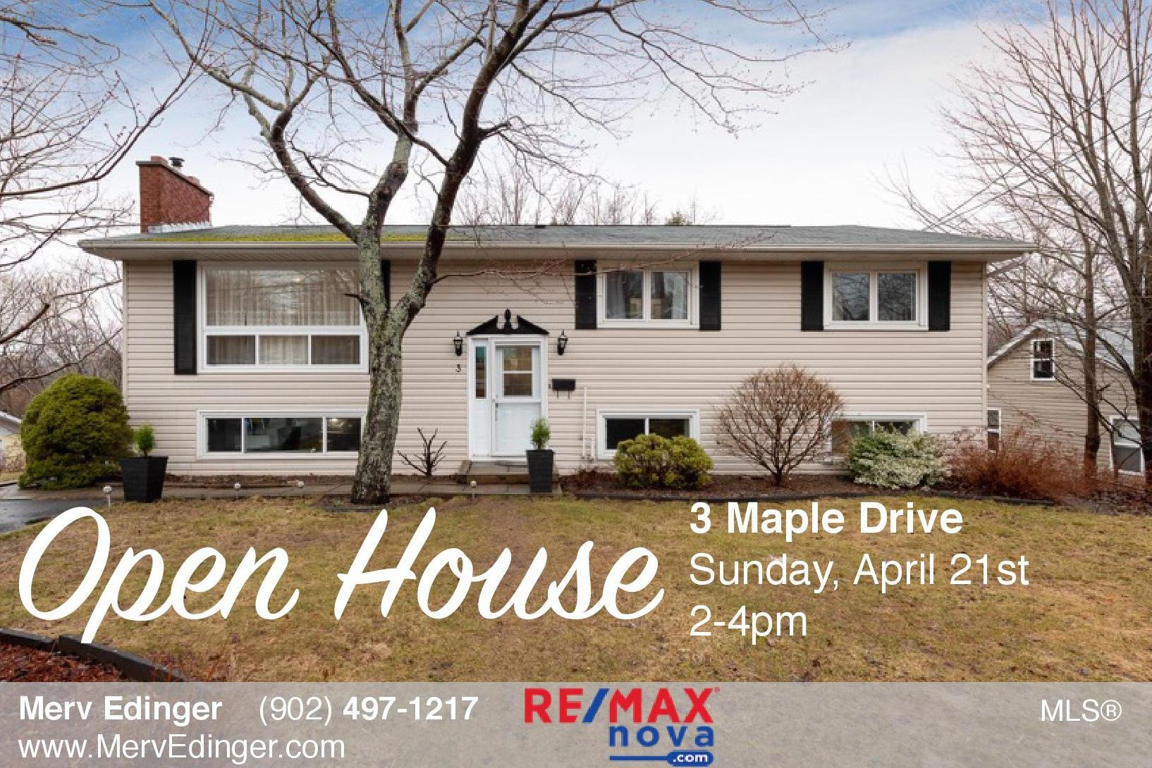 Open house April 21 | RE/MAX NOVA® | Halifax real estate | 3 Maple Drive