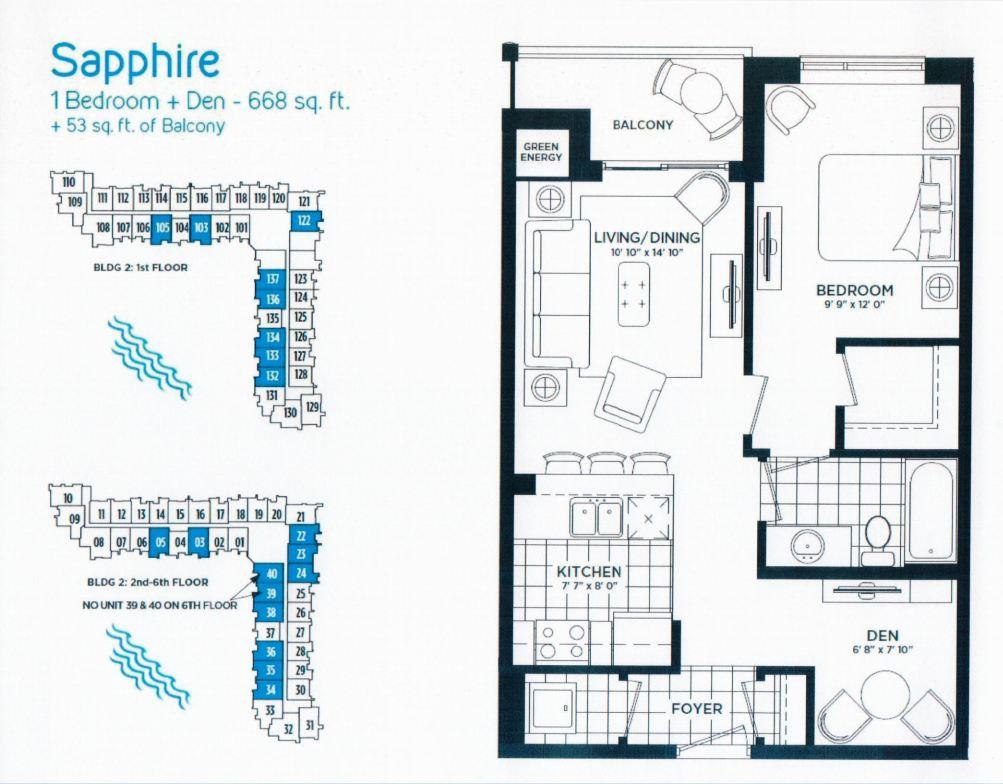 Sapphire Floor Plan in Stoney Creek