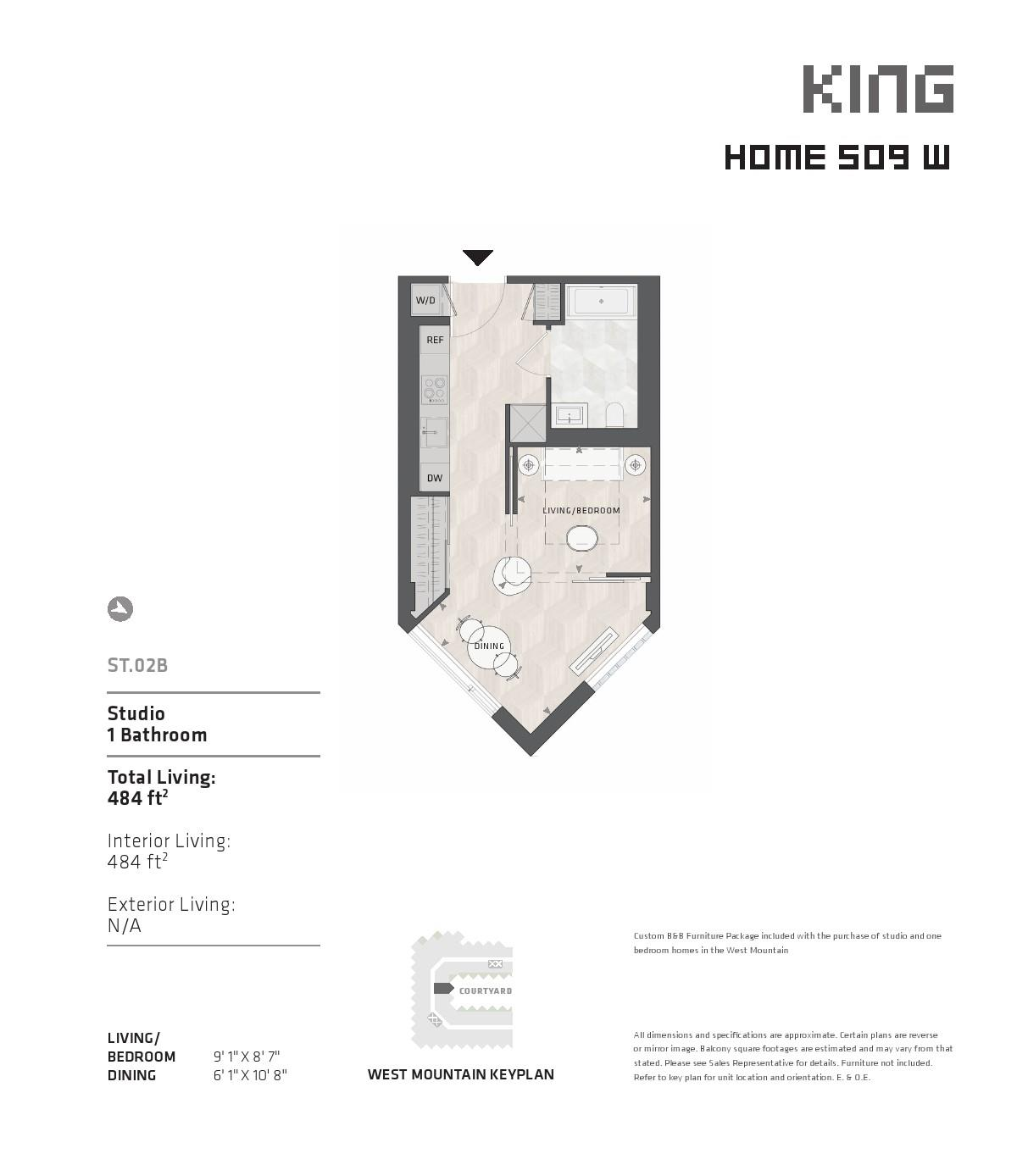 BIG King West Floor Plans
