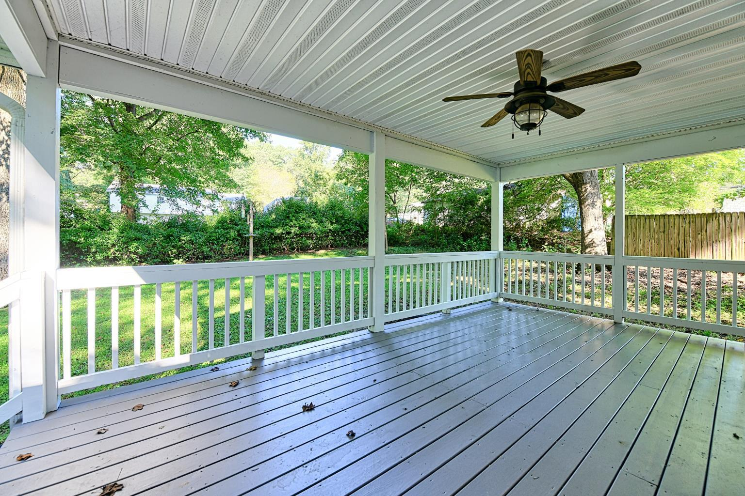 Great Covered Back Porch at 29783 Skyview Drive in Mechanicsville!  Listed by Your Golden Beach Real Estate Expert, Marie Lally, Realtor with O'Brien Realty in Southern MD
