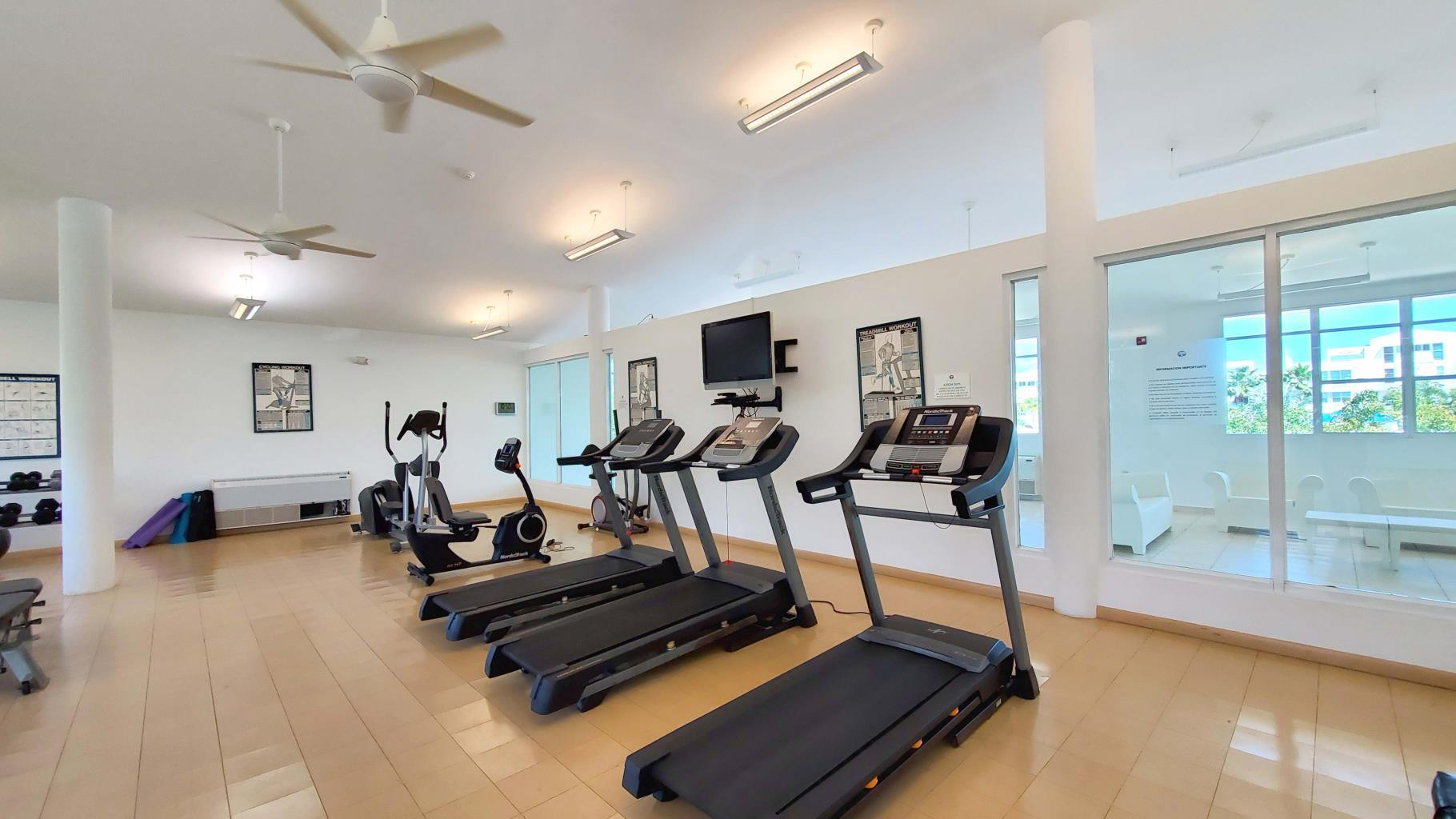Gym and Steam rooms