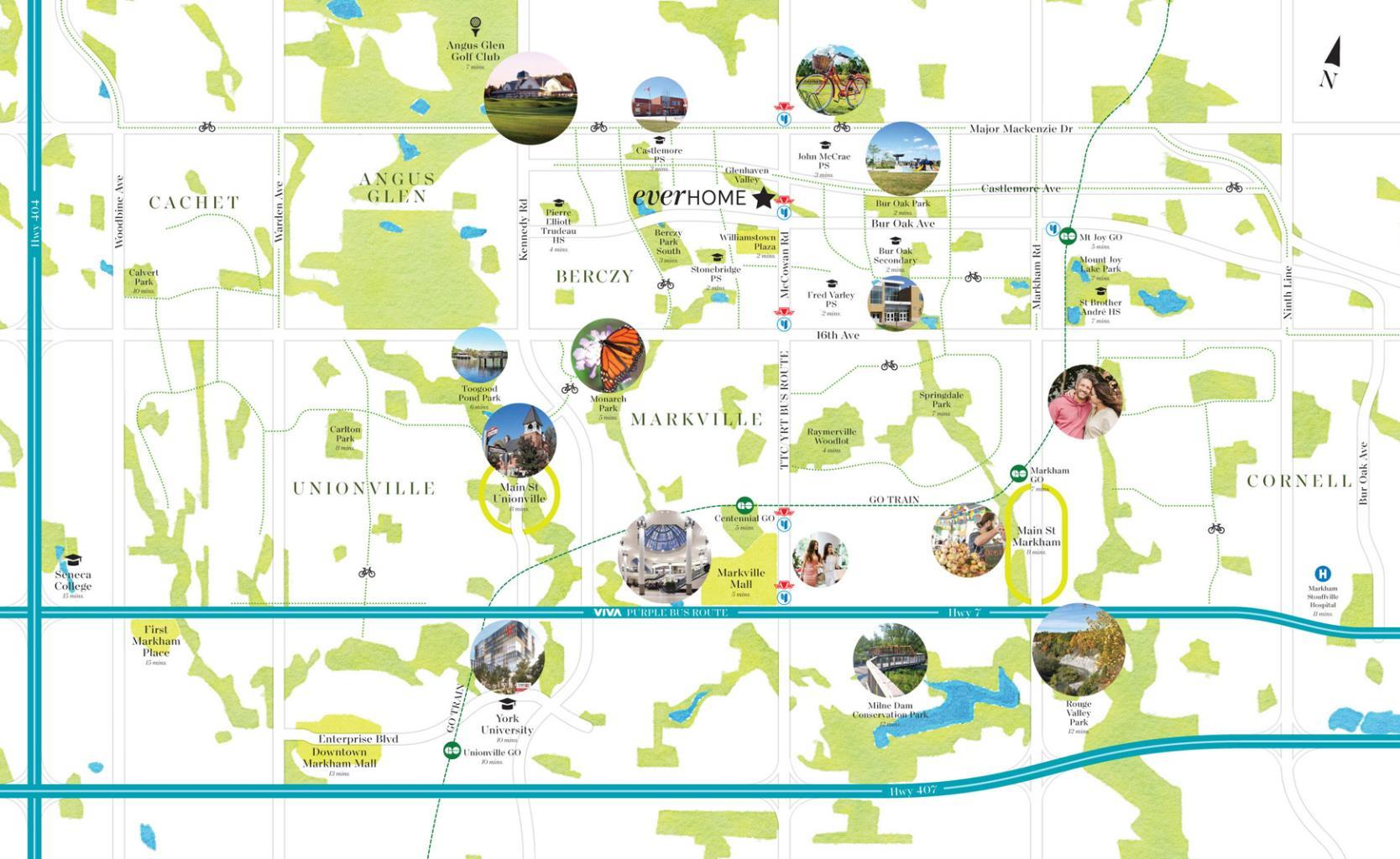Everhome Condos location and site map