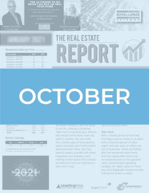 October 2020 Okanagan Real Estate Report