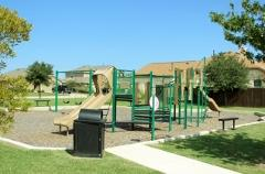 A view of the playgrokund in Woodlands Park, Kyle, Texas.