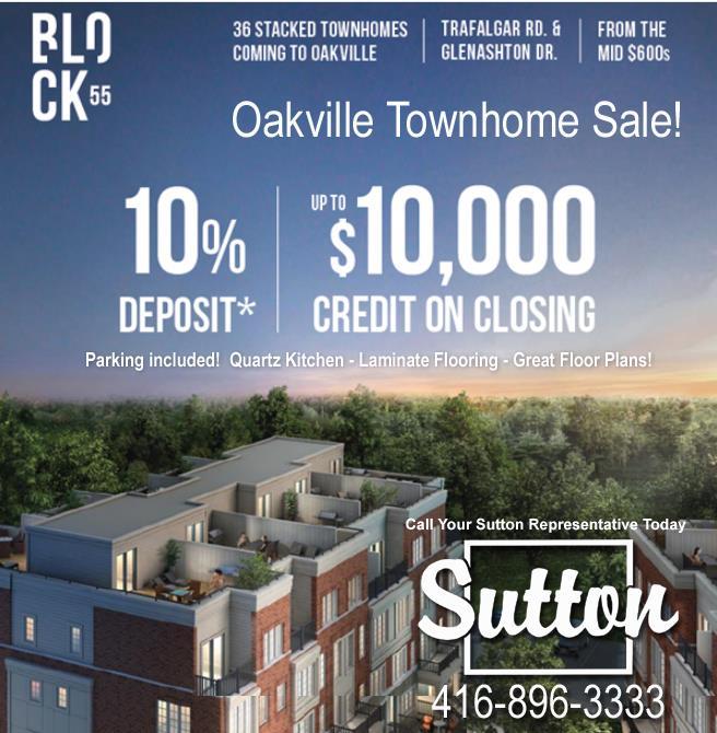 Block 55 Oakville Town Houses for Sale