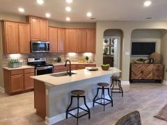 Model home kitchen in Sunset Hills 78640