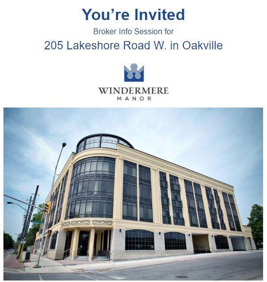 205 Lakeshore Road W, Oakville New Condos for sale