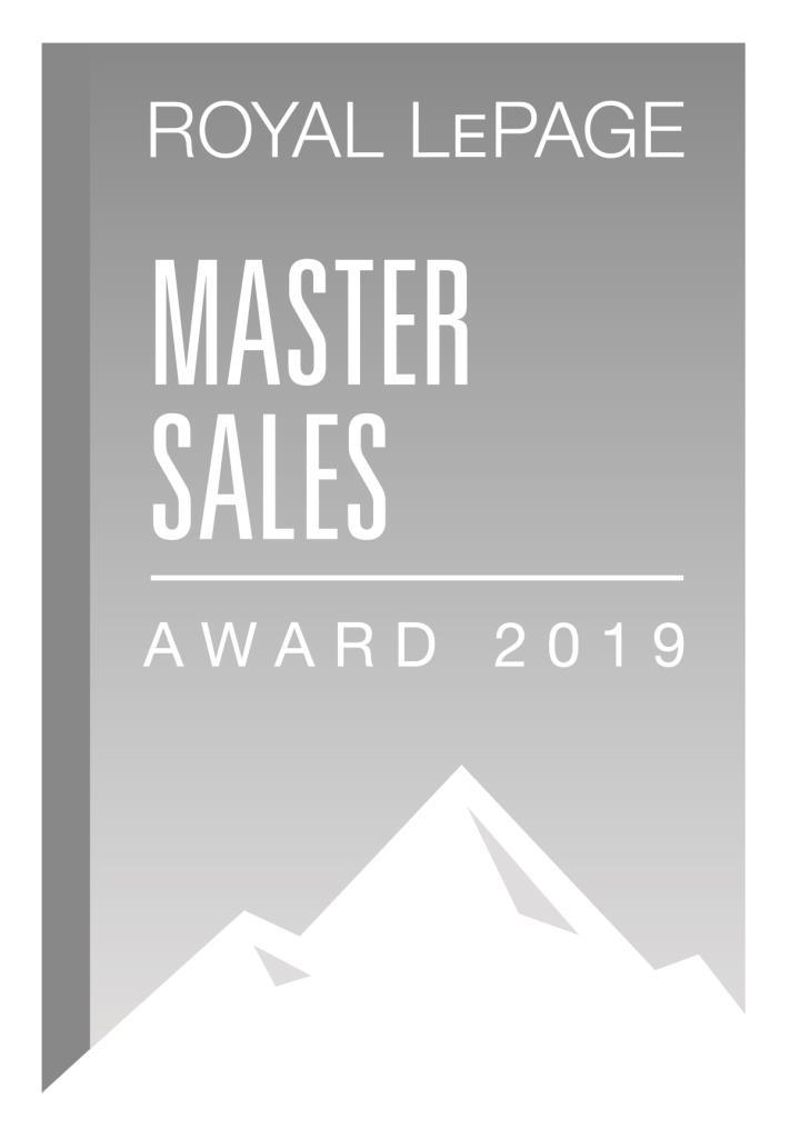 Master Sales Award REALTOR Royal Lepage 2019