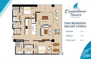 ENCANTAME TOWERS TWO BEDROOM DELUX FLOORPLAN
