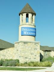 Sign at the entrance to Bellingham Meadows