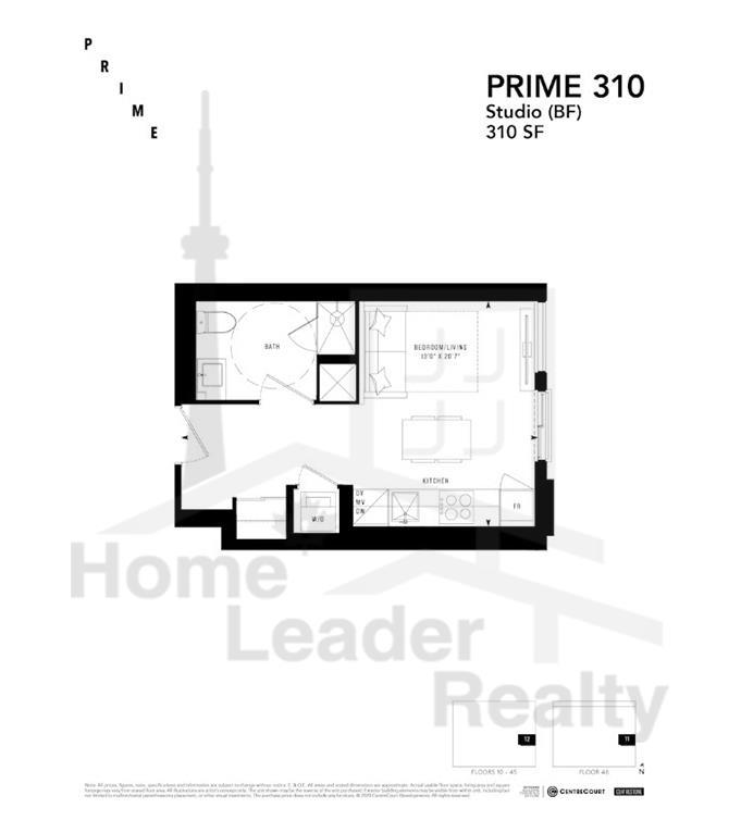 PRIME Condos - Floor plan - Prime 310