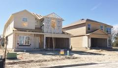 Early construction in Creekside Village in Kyle 78640