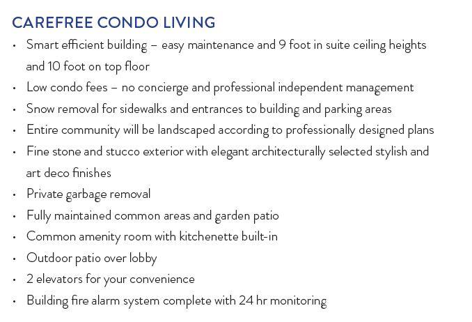 Gatsby Condos Maintenance fees