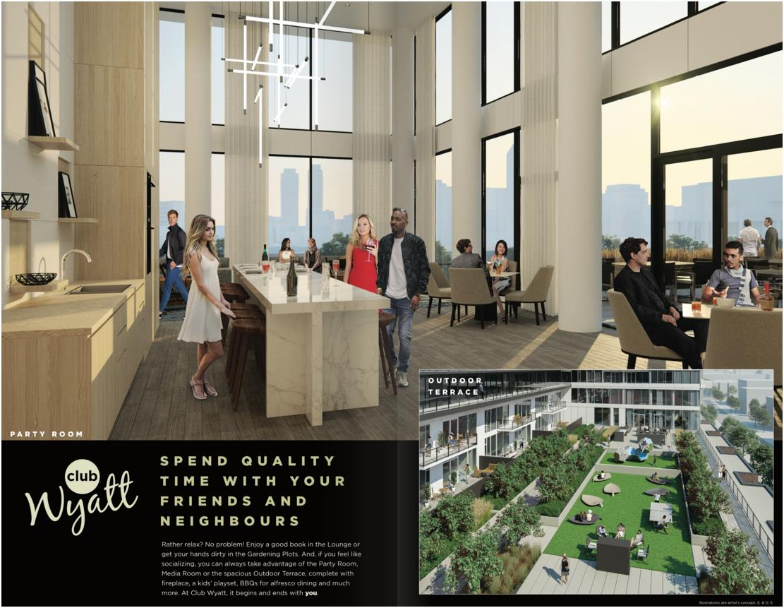 wyatt condos lounge and outdoor terrace