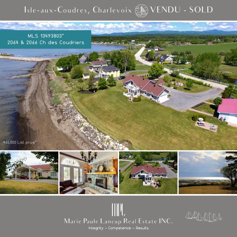 Marie Paule Lancup Real Estate Inc - 2064 & 2066 Ch. des Coudriers, Isle-aux-Coudres - VENDU * SOLD