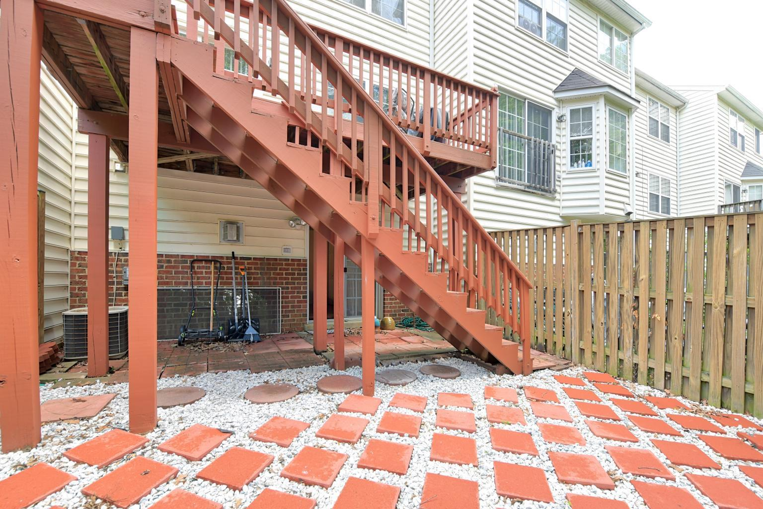 Easy living with this back patio and fenced yard at 2733 Stanford Place in Waldorf MD