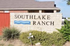 Sign at one of the entrances to Southlake Ranch in Kyle 78640