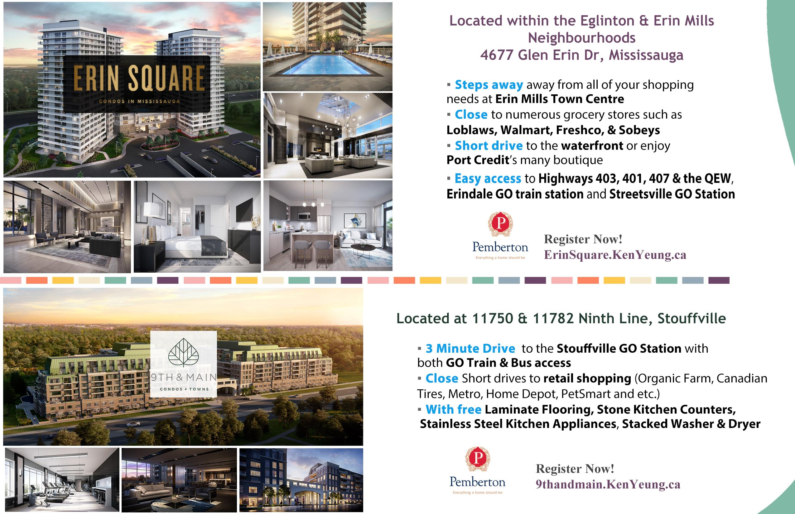 Erin Square + 9th and Main Condos Sales Event
