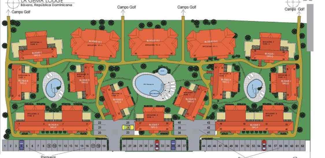 Gema Lodge Punta Cana Apartments Site Plan