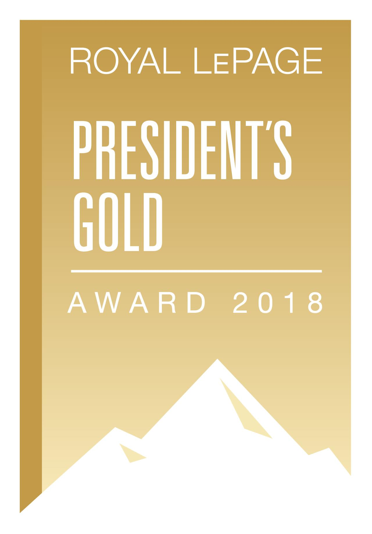 Presidents Gold Award REALTOR Royal Lepage