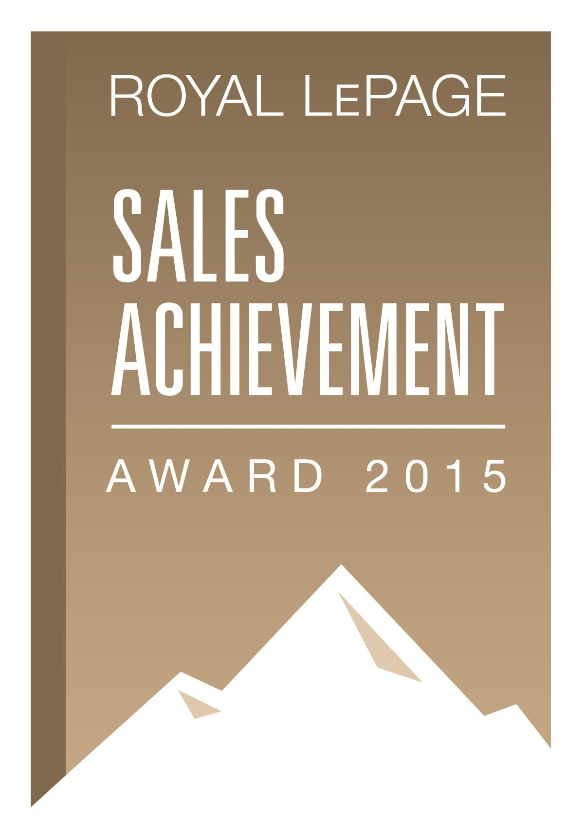 Sale Achievement Award REALTOR Royal Lepage