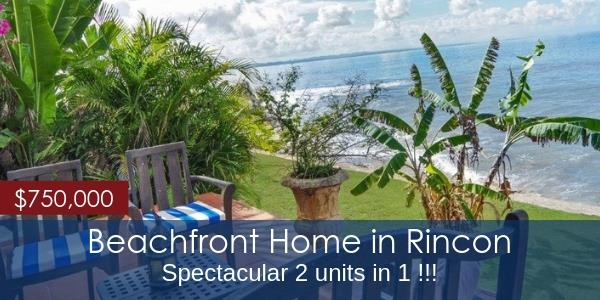 Beachfront Rincon property in Puerto Rico