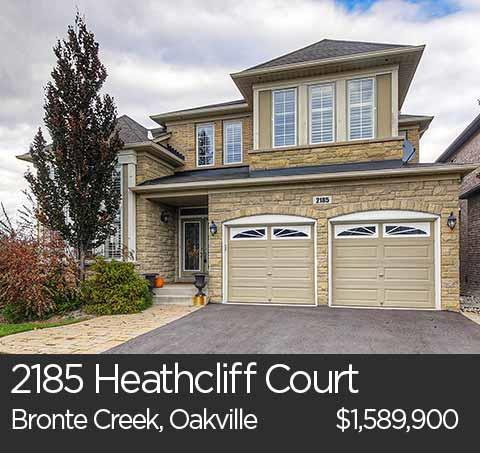 2185 Heathcliff Court Bronte Creek Oakville home for sale