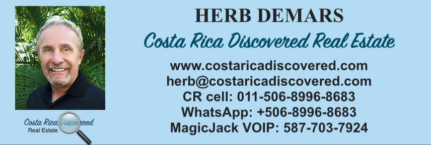 Herb DeMars, Costa Rica Discovered Real Estate