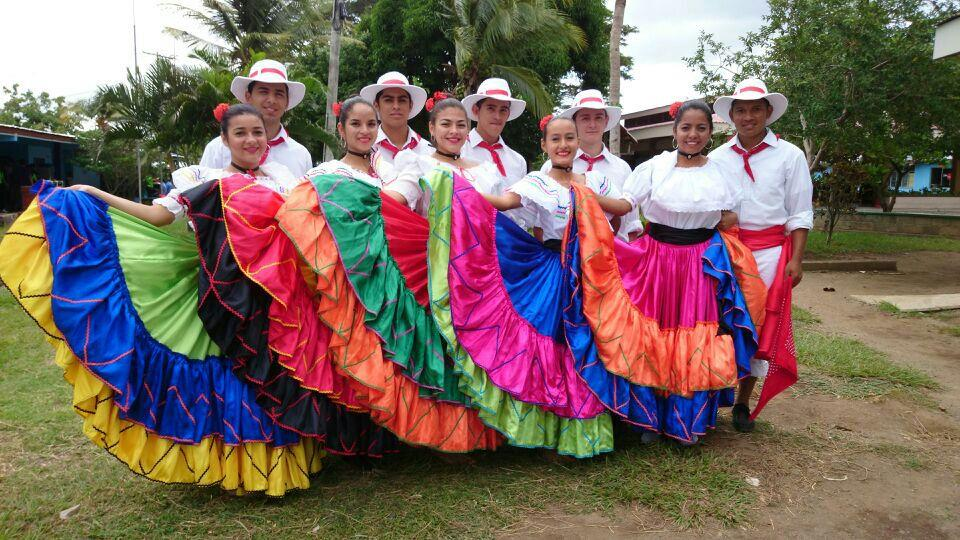Typical Costa Rican Dresses worn during cultural festivities