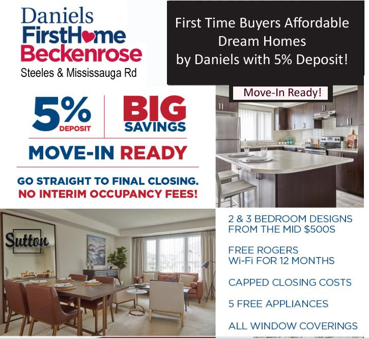 Daniels First Home Development at Steeles and Mississauga Road